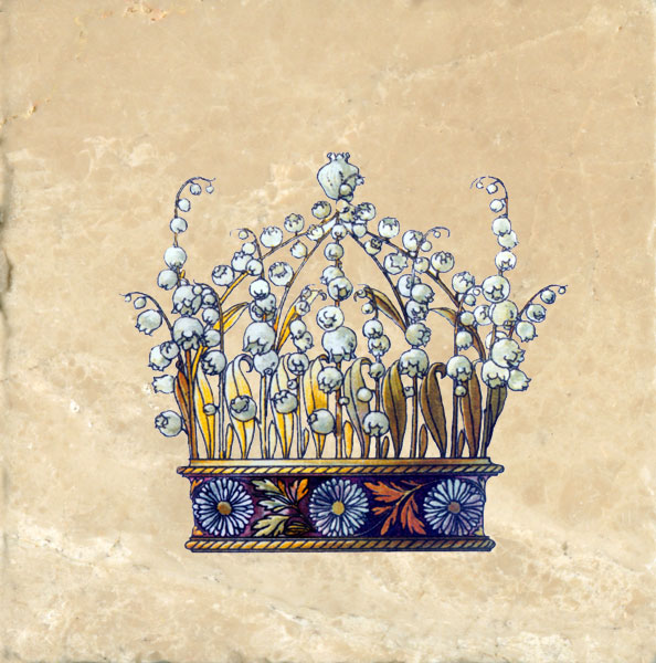 Lilies of the Valley Crown from Flowers and Feathers Medieval Crowns tile set, Anton Seder