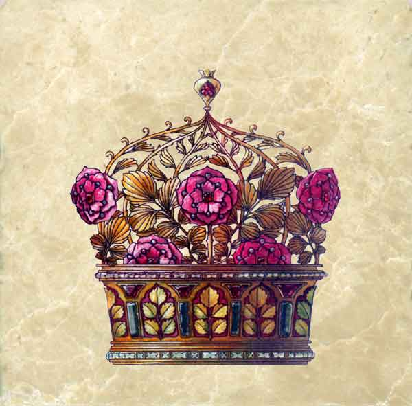Pomegranate Flower Crown from Flowers and Feathers Medieval Crowns tile set, Anton Seder