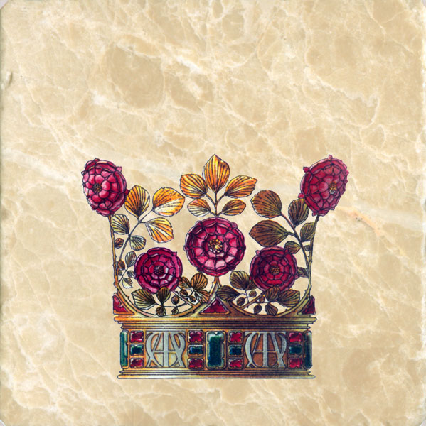Red Rose Crown from Flowers and Feathers Medieval Crowns tile set, Anton Seder