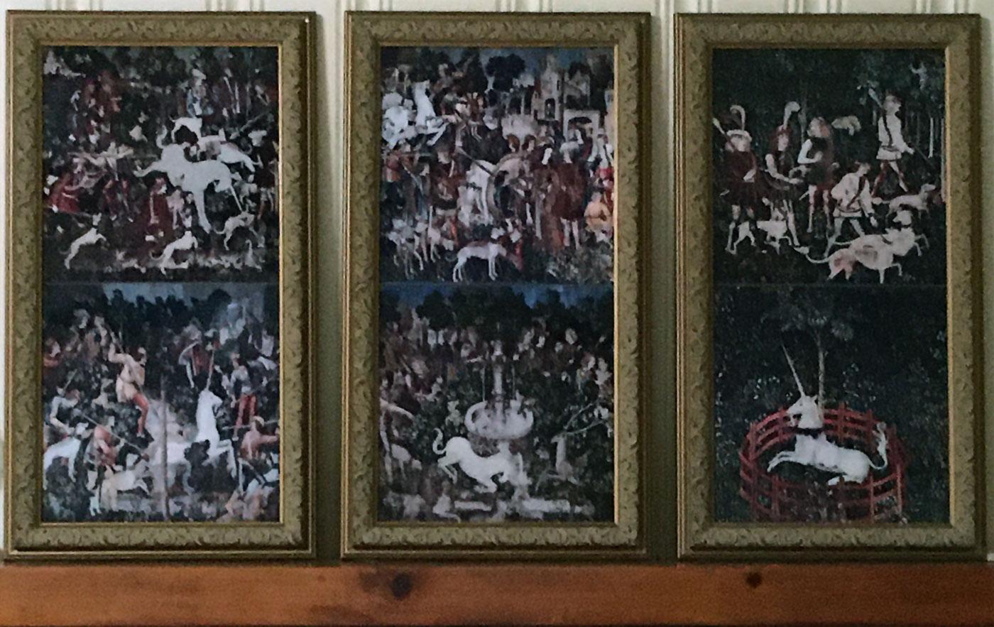 Hunt for the Unicorn, Framed Tiles