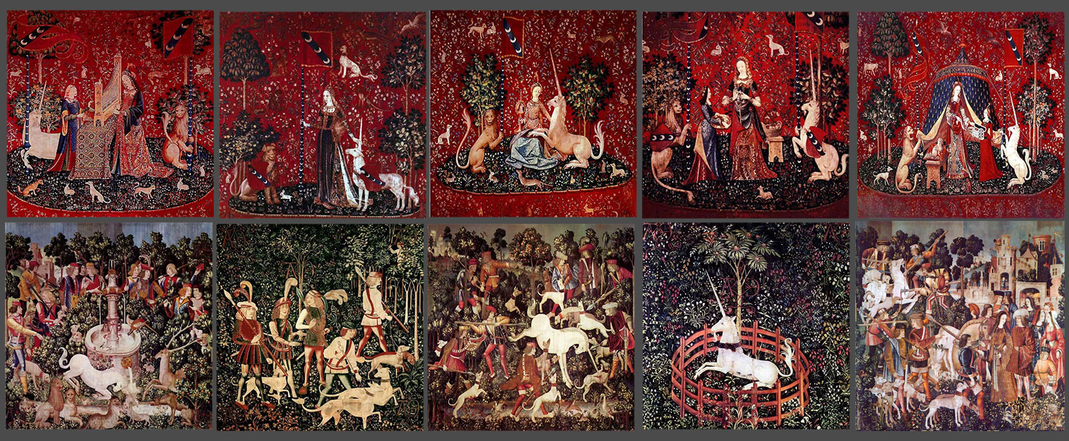 Unicorn tapestries tiles