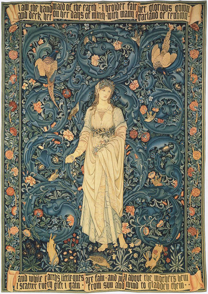 Flora tapestry designed by William Morris and Edward Burne-Jones