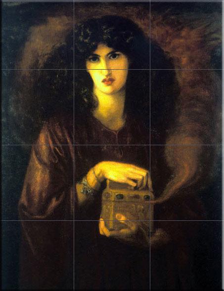 Jane Morris as Pandora, Dante Gabriel Rossetti