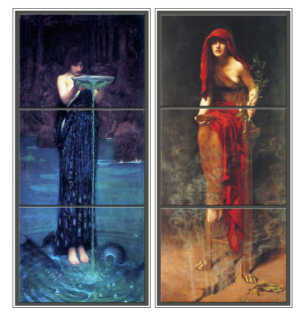 Waterhouse: Circe Invidiosa, Collier: Oracle of Delphi