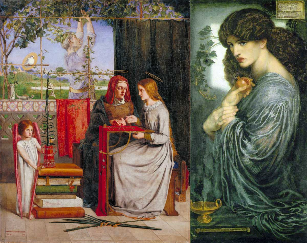 Rossetti, lily and pomegranate symbols