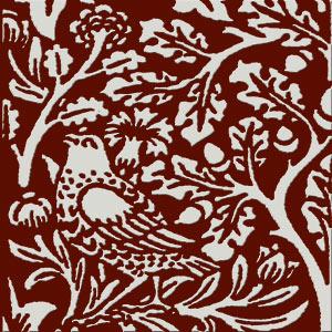 William Morris Brother Rabbit Tile on Dragon's Blood