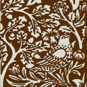William Morris Brother Rabbit Tile on Earth