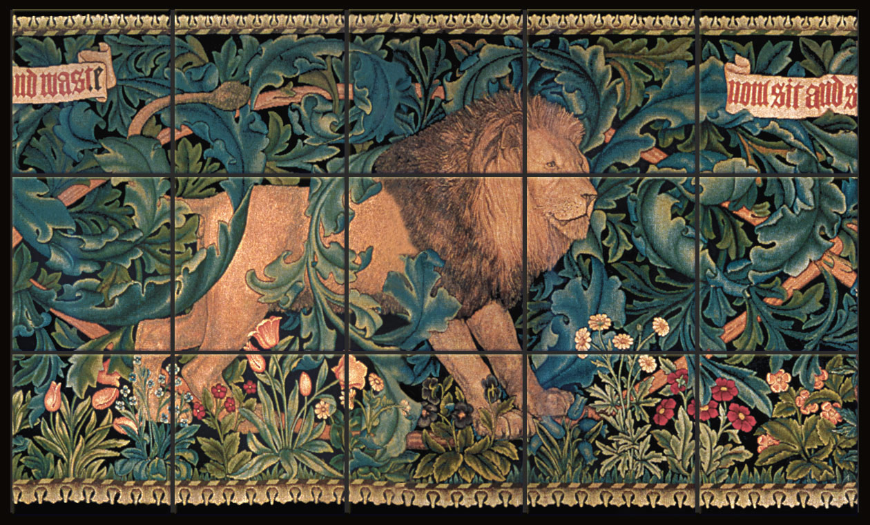15-tile 'The Forest' Lion mural