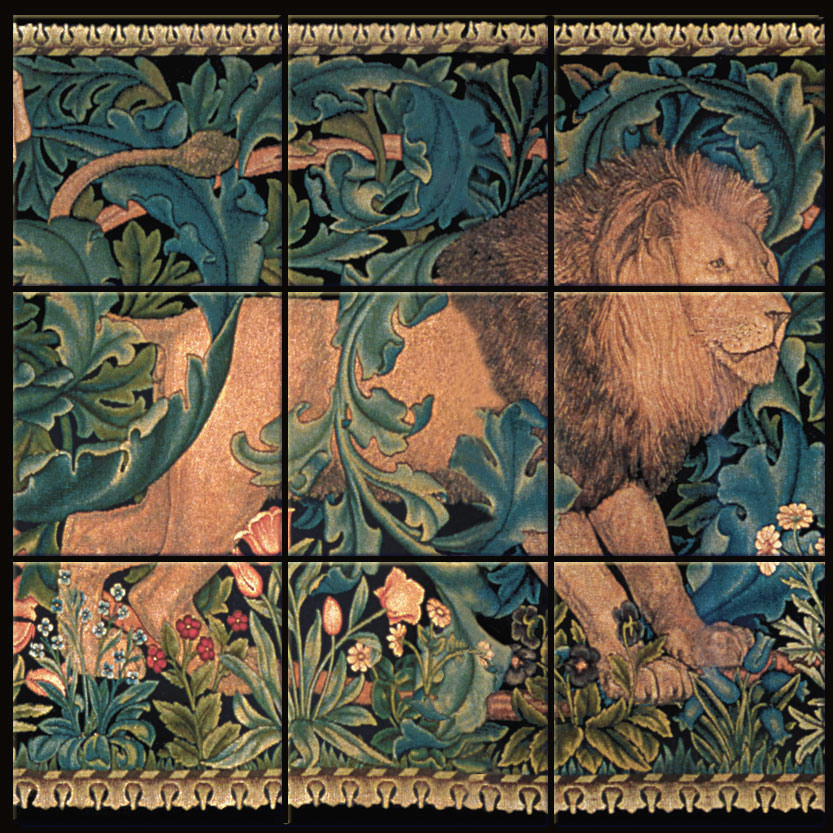 9-tile 'The Forest' Lion mural