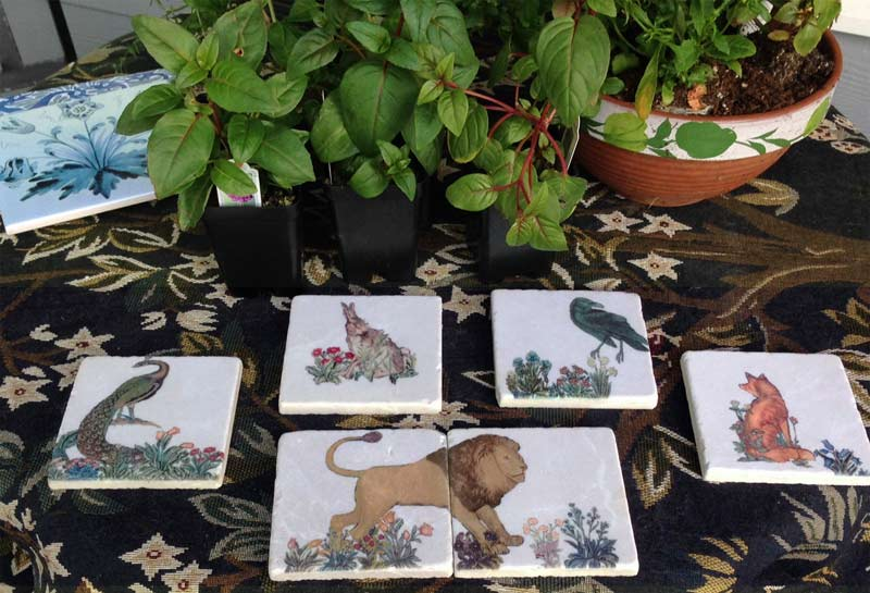 Forest animals tiles. William Morris Tile