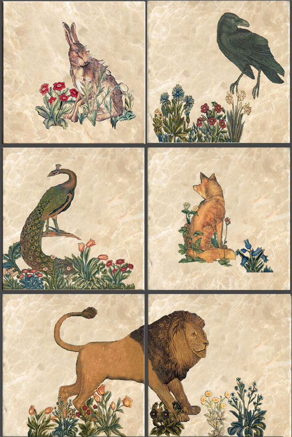 William Morris Forest Animals Tiles