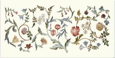 May Morris 'A Garden Piece' small border tile
