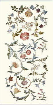 May Morris Garden Piece Single Border Tile, Vertical Orientation