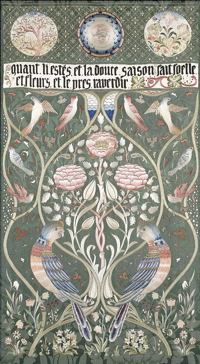 May Morris Spring and Summer bedcover, 1895.
