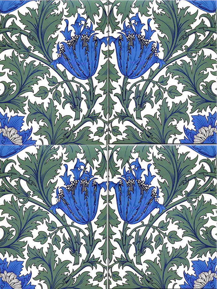 William Morris Anemone Tiles