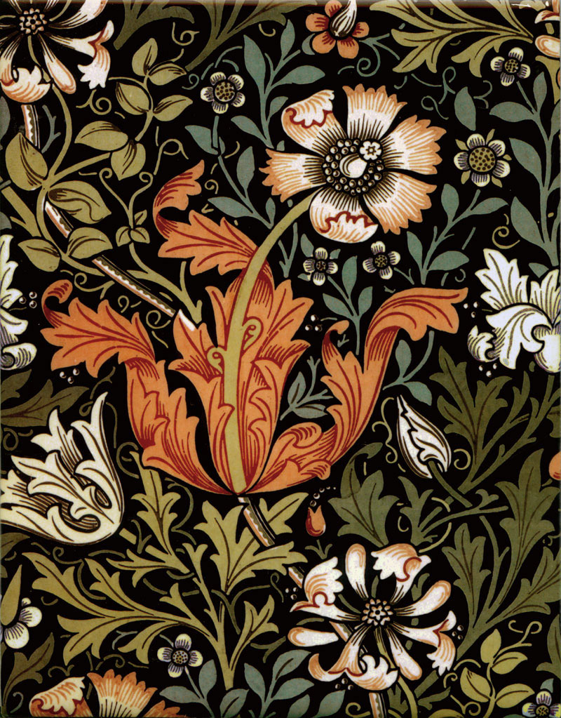 William Morris Compton Tiles, autumn colors