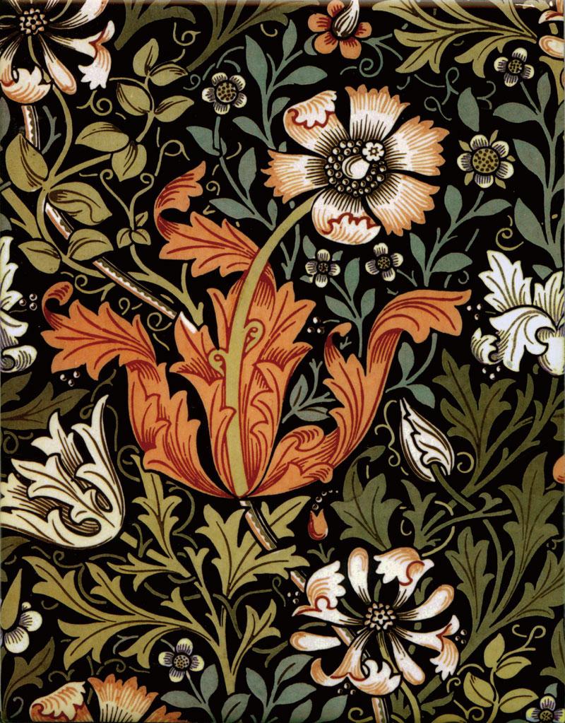William Morris Compton Tiles, autumn colors