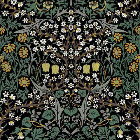 William Morris Co. Blackthorn yellow flowers