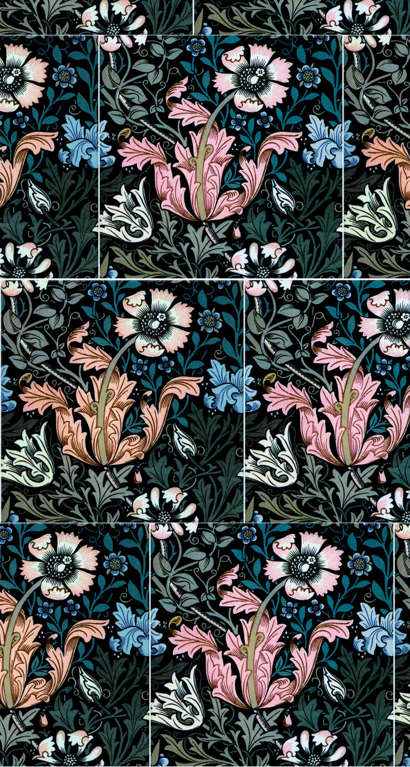 William Morris Compton tiles, Summer Fireworks limited edition tiles