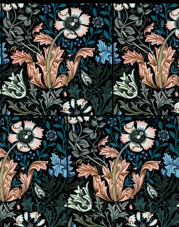 Compton, Winter colors, tiled