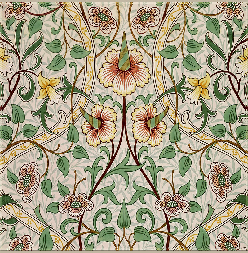 William Morris, John Henry Dearle: Daffodil in green