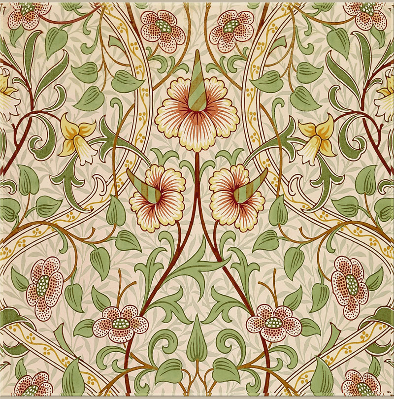 William Morris, John Henry Dearle: Daffodil original colorway