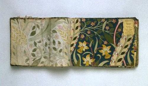 William Morris & Co. Daffodil swatch, 1900-1910.