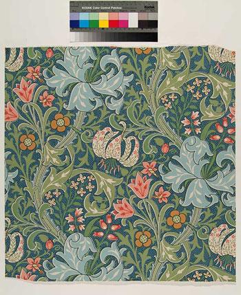 William Morris Tile Golden Lily, Huntington fabric