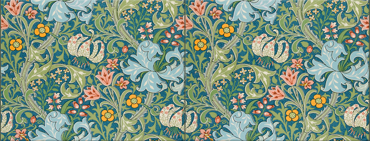 William Morris: Golden Lily, 6 x 8 inch seamless tiles
