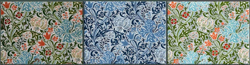 William Morris Tile Golden Lily variations.
