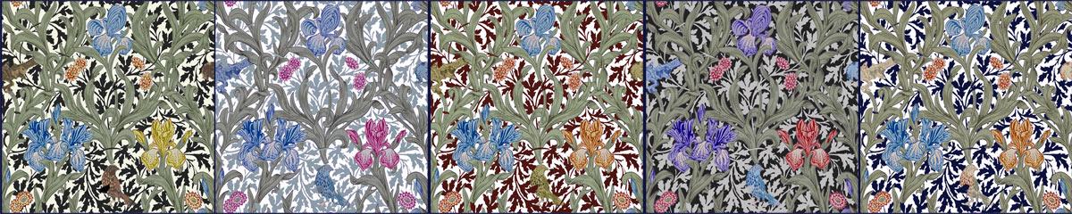 William Morris Iris Tiles