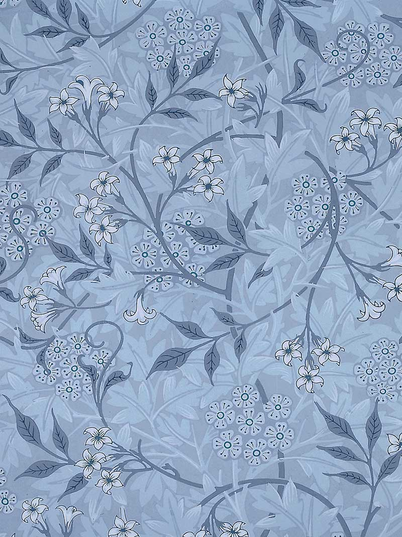 William Morris Jasmine Tile, blue
