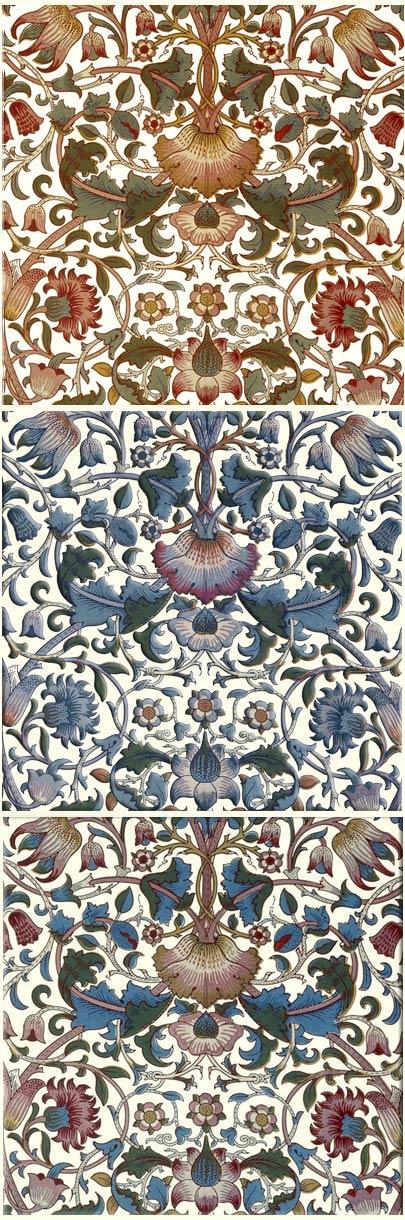 William Morris Tile: Lodden variations