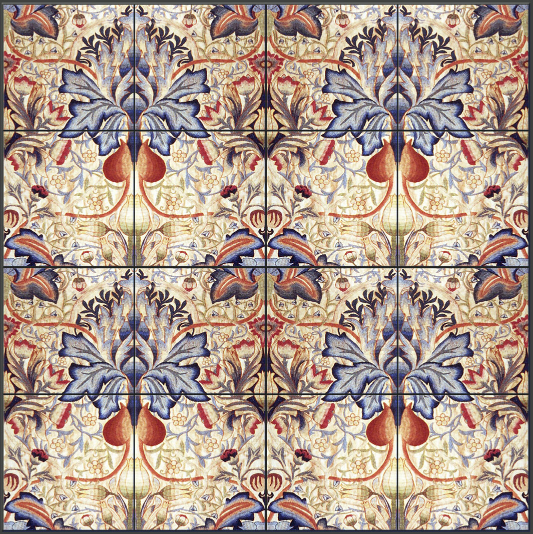 William Morris Artichoke backsplash