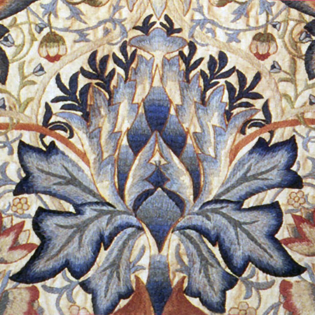 William Morris Artichoke border tile