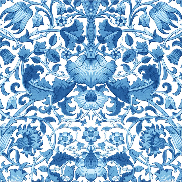 William Morris Lodden pattern, light blue