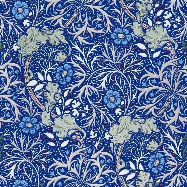 William Morris Tile: Seaweed tiles, 6 inch tiles, seamless.