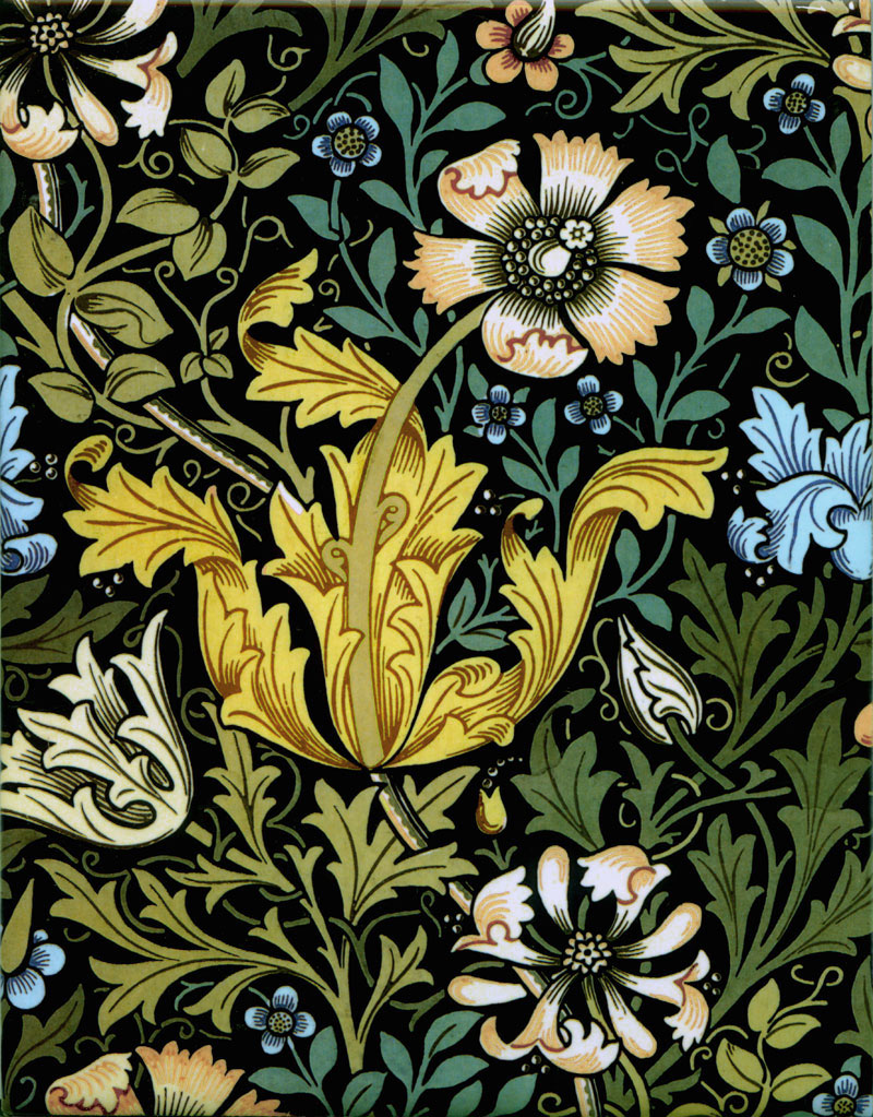 William Morris Compton Tiles, summer colors