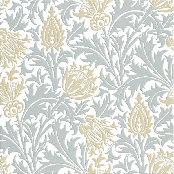 William Morris Thistle tiles, Gold and Silver