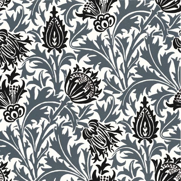 William Morris Thistle tiles, Icelandic Grays