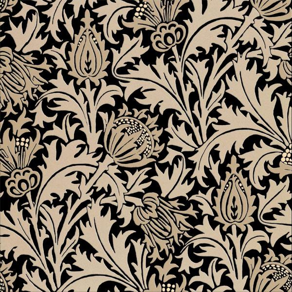 William Morris Thistle tiles, Desert Browns