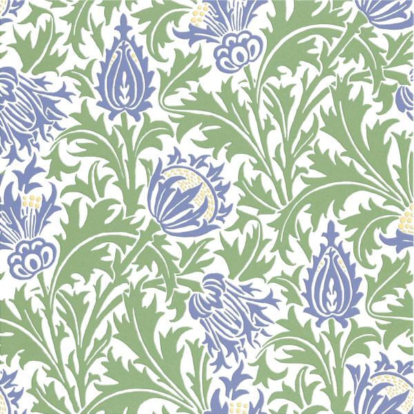 William Morris Thistle tiles, Spring colorway