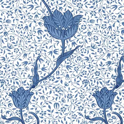 William Morris Medway pattern on tile