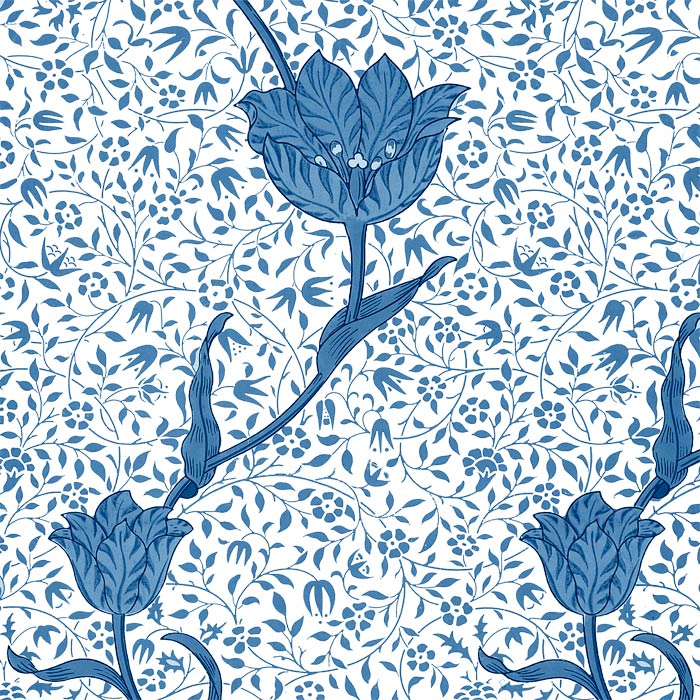 William Morris Medway (Garden Tulip), 6 or 8 inch square tiles