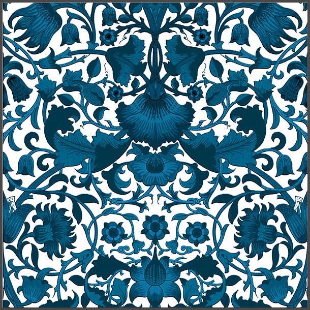 William Morris Lodden Tile, Turquoise colorway