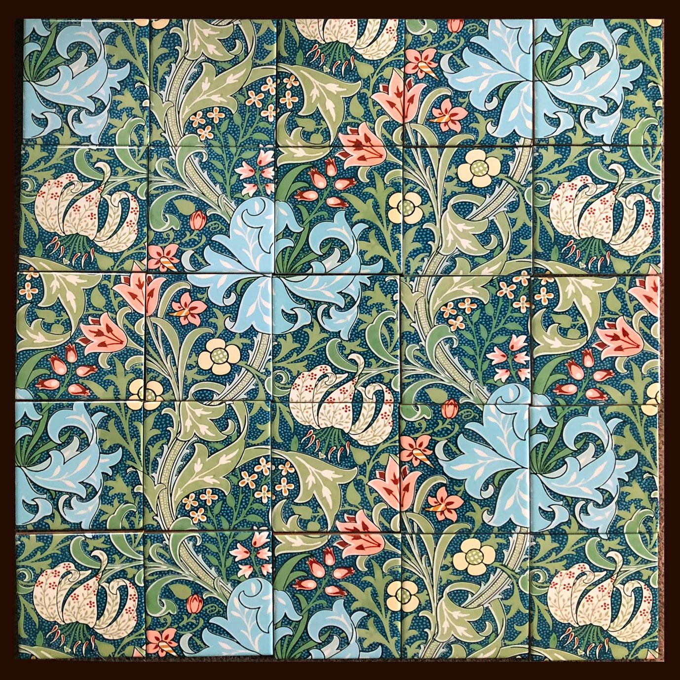 William Morris Tile Golden Lily backsplash, photo