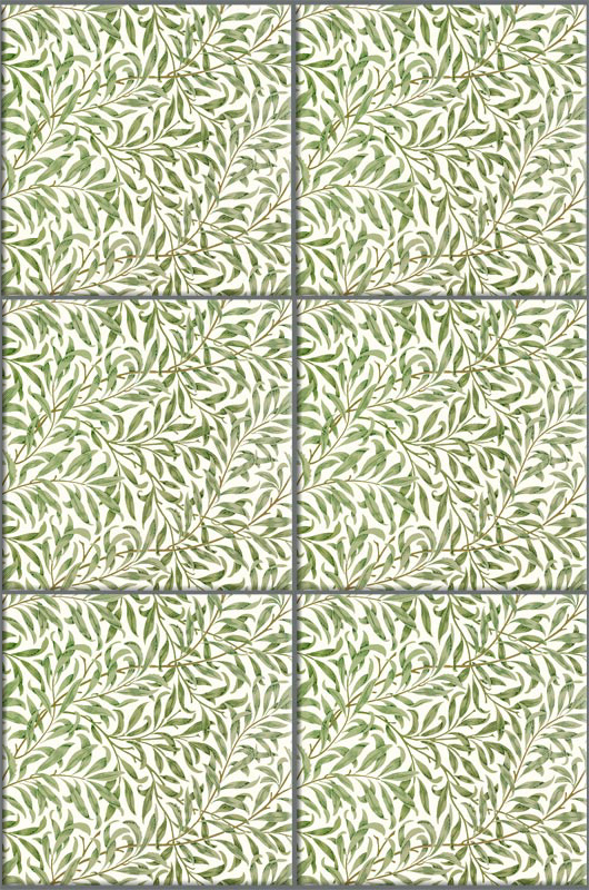 William Morris Willow tile, variations