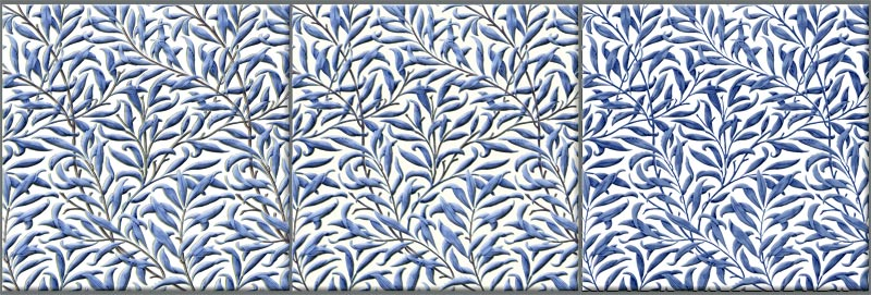 William Morris Willow Bough, blue variations