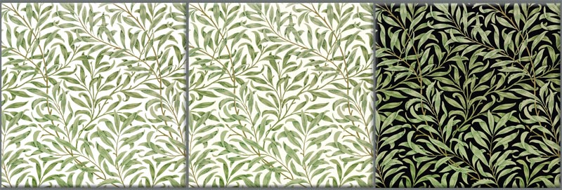 William Morris Willow, green variations