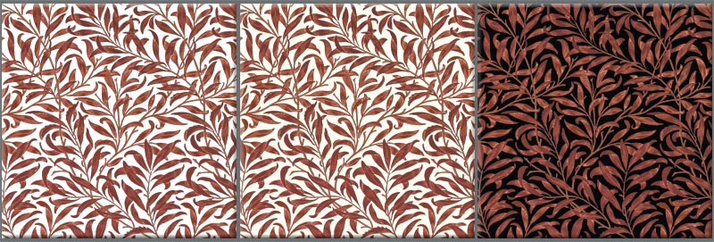 William Morris Willow Bough, red variations